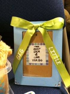 Big little picture frame alpha Xi delta sorority craft