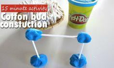 Build a fun cotton bud construction