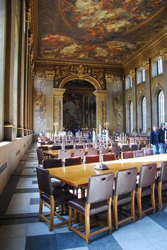 Greenwich,  London-  Old Royal Naval College, Painted Hall
