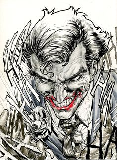 Here is the Work In Progress of the Joker sketch I'm doing for this here Batman theme this month. If you want more frequent updates, I would be happy to. Comic Book Covers, Comic Books, In The Pale Moonlight, Best Villains, Batman The Dark Knight, Clark Kent, Joker And Harley Quinn, Nightwing, Marvel Comics