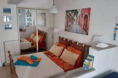 Tutaj odpoczniesz Studio, Bed, Life, Furniture, Home Decor, Crete, Decoration Home, Stream Bed, Room Decor