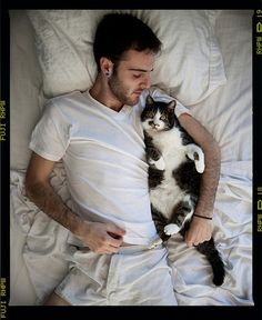 Men who love animals, especially cats, make my heart melt.