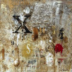 ...scripta manent: Tecnica mista (50x50x4) 2013