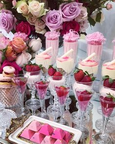 An afternoon delight and the prettiest dessert table to tempt your guests with collaboration by dessert cups strawberries and Oreo bites for the cutest gelato cones Gorgeous illustration (afternoon tea baby shower) Candy Table, Candy Buffet, Afternoon Delight, Afternoon Tea, Dessert Cups, Dessert Ideas, Cake Ideas, Partys, Ideas Party