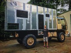 Overland Truck, Overland Trailer, Expedition Vehicle, Build A Camper, Diy Camper, 4x4 Trucks, Custom Trucks, Truck House, School Bus House