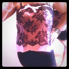 NWT ÜBER SEXY UNIQUE BLACK LACE PINK 2 LAYERED TOP Want to feel EXOTIC,SEDUCTIVE, & UNSTOPPABLE? BUY THIS NEW & UNIQUE BLACK LACE & PINK BABY DOLL TOP! It Screams out ULTRA HOT & SEXY! 1 Sheer Pink Layer & 1 Black Lace Layer. Orig. $99 (On Sale) b4 taxes.Its SEDUCTIVE & A HEAD TURNER! Perfect 4 VEGAS!✨The Babydoll Cut HIDES ANY TUMMY Imperfections! So get this b4 someone else does!Wear it for that special someone, or out to the clubs w/a bandage skirt & heels! Bought @ a Highend…