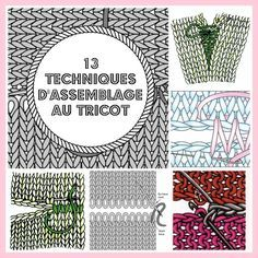 MES FAVORIS TRICOT-CROCHET: 13 techniques d'assemblage au tricot