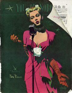 Illustration for Ladies Home Journal, Jan. 1945( Al Parker)