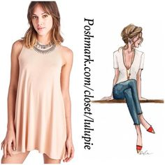 Essential Everyday Shift Dress in Blush Perfect dress for day or night. Wardrobe essential dress. 95% Rayon, 5% Spandex April Spirit Dresses