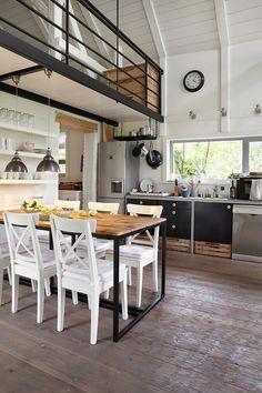 Amazing kitchen of amazing Polish County house, via Miss Design.