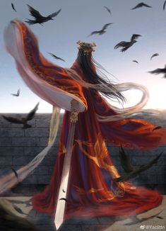 Outstanding Historical Novels That You'll Love - Reshira Sarizin Beautiful Fantasy Art, Beautiful Anime Girl, Japonese Girl, Chinese Drawings, Painting Of Girl, Anime Angel, China Art, High Fantasy, Ancient China