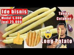Ide bisnis Long Potato modal 5.000 jual 25.000 tanpa cetakan - YouTube Potato Snacks, Snack Recipes, Cooking Recipes, Snack Box, Antipasto, Cake Cookies, Side Dishes, Recipies, Food And Drink