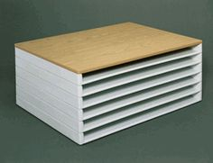 DIY some of these for paper sorage (Safco Giant Stacking Tray,  39W X 26D X 3H, Pack of 2)