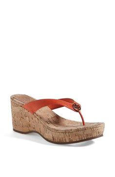wedge cork sandals - need!