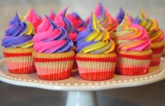 pink cupcakes with purple frosting - Google Search
