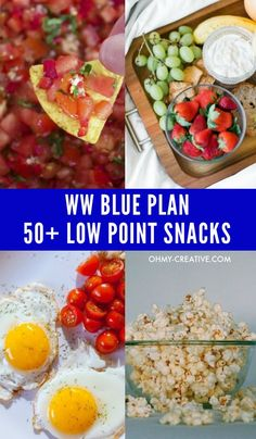 Weight Watchers tasty Low SmartPoint Snacks for when you're are feeling hungry. OHMY-CREATIVE.COM #weightwatchers #weightwatchersnacks #lowsmartpointsnacks #smartpointrecipes #lowcaloriesnacks #wwblueplan Plats Weight Watchers, Weight Watchers Snacks, Weight Loss Snacks, Healthy Weight Loss, Weight Watchers Smart Points, Ww Recipes, Healthy Recipes, Skinny Recipes, Healthy Snacks