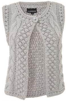Knitted Boys and Girls Baby Sweater, Vest Cardigan Pattern Knit Vest Pattern, Sweater Knitting Patterns, Knitting Designs, Hand Knitting, Mode Crochet, Knit Crochet, Knit Lace, Diy Crafts Knitting, How To Start Knitting