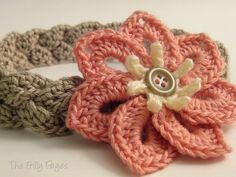 Braided Headband with 7-petal Flower by {F}arah, via Flickr
