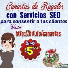 Consiente a tus clientes frecuentes con Canastas de Servicios SEO en esta temporada navideña y de fin de año desde $5 visita:  http://bit.do/canastas