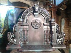 Ganpati Decoration Ideas Thermocol, Ganpati Decoration At Home, Decoration Pictures, Decorating With Pictures, Thermocol Craft, Ganesh Design, Ganesh Chaturthi Decoration, Ganesha Art, Art N Craft