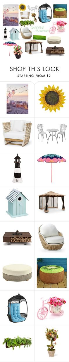"""""""Garden"""" by popcornpaige44 ❤ liked on Polyvore featuring interior, interiors, interior design, home, home decor, interior decorating, DutchCrafters, Sunnylife, AK47 and Frontgate"""