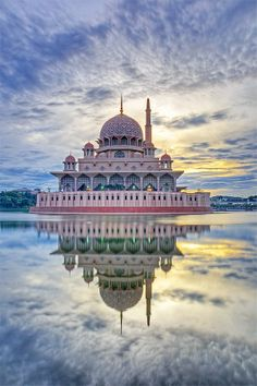 The Putra Mosque, it is the main mosque of Putrajaya, Administrative capital of Malaysia. Southeast Asia.