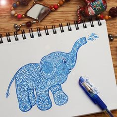 Aayushi Shah – Super Doodle Featured Artist Peaceful Words, World Elephant Day, Instagram Accounts, Instagram Posts, Inspire Others, Gel Pens, Western Australia, Doodles, Colours