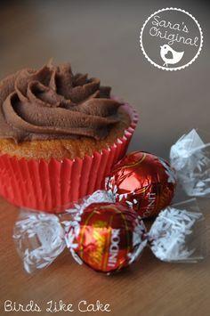 Birds Like Cake: Lindor Cupcakes Brownie Cupcakes, Cupcake Cakes, Lindt Lindor, Cupcake Recipes, No Bake Cake, Bakery, Mensa, Desserts, Brownies