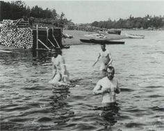 Tsar Nicholas II of Russia, skinny-dipping. Don't know why I need to pin this...maybe cuz it isn't something you see every day lol