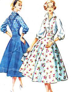 Vintage Sewing Pattern 1950s McCalls 4148 by NeenerbeenerKnits