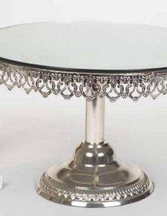 Silver Mirror Cake Stands for a special event for hire from mysweeteventhire