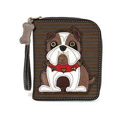 Leather Zip Around Wallet - bulldog by VIDA VIDA ZZAAH6Src