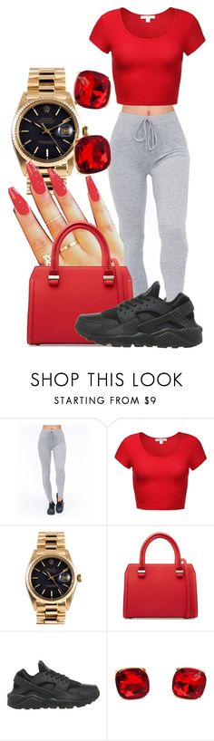 """""""Untitled #408"""" by sarajordan2993 ❤ liked on Polyvore featuring Tiger Mist, Rolex, Victoria Beckham and NIKE"""