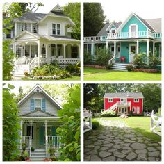 collage Mackinac Island cozy homes