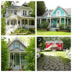 collage Mackinac Island cozy homes