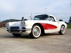 1961 Chevy Corvette!! White/Red!! 283/4-Speed