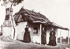Residents of the goldfields standing outside their home. web site dedicated to keast burke