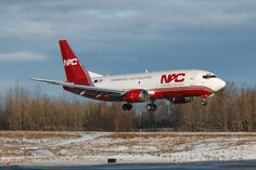 Northern Air Cargo (NAC287) Boeing 737-300 freighter at Anchorage (PANC)