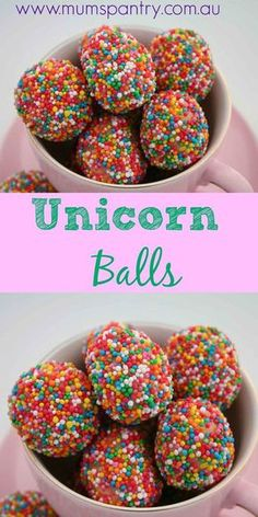 Unicorn Rainbow Balls Mum's Pantry is part of Rainbow unicorn party - Rainbow Unicorn Party, Unicorn Birthday Parties, 5th Birthday, Birthday Ideas, Birthday Party Snacks, Party Sweets, Rainbow Birthday Party, Candy Party, Cumple My Little Pony
