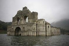 Laiglesia de400 años deantiguedad que emergió delas aguas enMéxico
