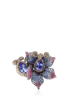 Flower Multi Colored Ring by Wendy Yue