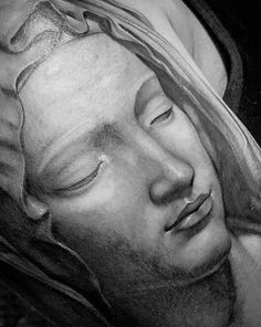 Mother Mary portrait Ink Instagram, Grey Scale, Black Ink Tattoos, Mother Mary, Photo And Video, Portrait, Art, Art Background, Virgin Mary