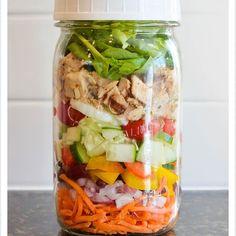 everydaysalads - Mason Jar salads for the week! You can stuff the jars ...