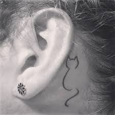 Image result for cat ear tattoos