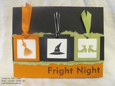 Witch Ribbon card | TheseAreMyStamps