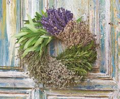 Herbs de Napa Wreath  The wreath combines savory, fresh rosemary, bay, lavender, thyme, and marjoram