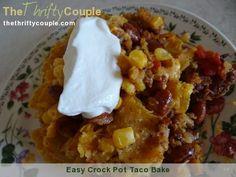 Easy Crock Pot Taco Bake Recipe