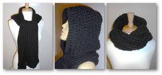 Free Crochet Hooded Scarf Pattern | free crochet patterns hooded scarf