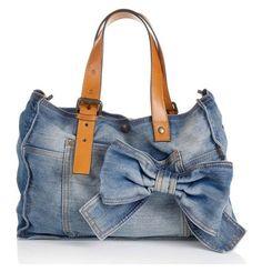Diy Jeans, Jeans Denim, Mochila Jeans, Handbags Online Shopping, Denim Purse, Denim Ideas, Creation Couture, Denim And Lace, Fashion Bags