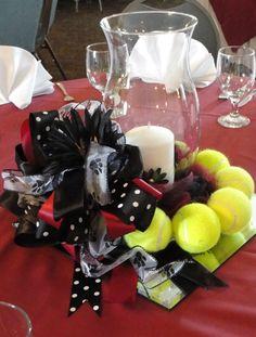Tennis centerpieces | Tennis Banquet Centerpiece | cheer